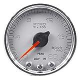Auto Meter P31021 Gauge, Pyro. (Egt), 2 1/16'', 2000ºf, Stepper Motor W/Peak & Warn, Slvr/Chrm, Spek-Pro