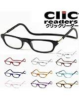 Clicreaders (クリックリーダー) 老眼鏡 レンズ選択可能 (薄型レンズ,ブルーライトカットレンズ,度なしレンズ)