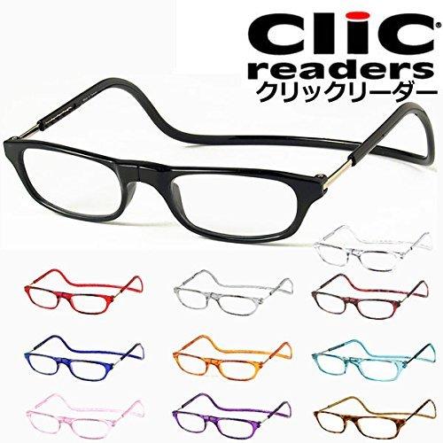 (クリックリーダー) Clic Readers 老眼鏡 B01LZ3EKD0 薄型非球面レンズ+2.00|クリアー クリアー 薄型非球面レンズ+2.00