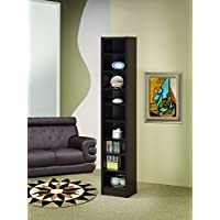 Coaster Home Furnishings  Modern Transitional Nine Tier Organizer Bookcase Storage Shelf - Cappuccino
