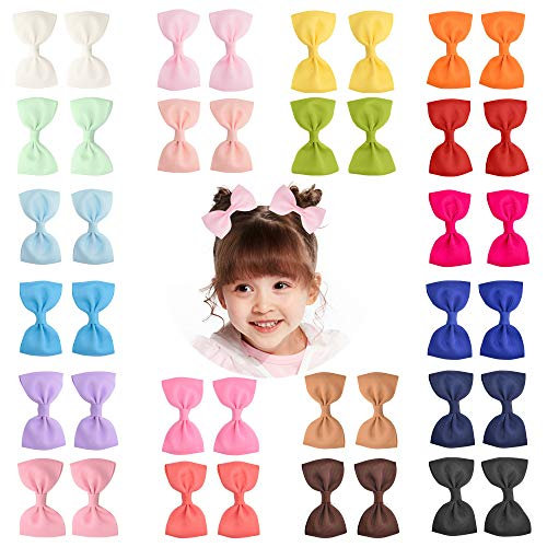 40 Pieces 3″ Baby Girls Grosgrain Ribbon Bows Hair Bow Clips Barrettes For Girl Teens Kids Babies Toddlers by Prohouse