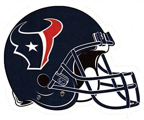 A Glo 4 Pack Houston Texans Die Cut Stickers NFL Football Helmet Logo Sticker Team Set Texas ()