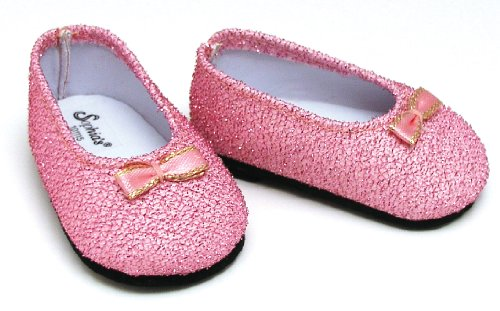 Light Pink Glitter Doll Dress Shoes