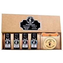 DUCKBUTTER Duck Butter Beard Oil Beardsman Pack - 4 Scents with Brush & Comb Gift Set