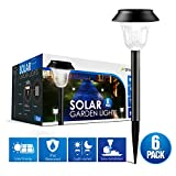 #3: [2018 UPGRADED] Solar Lights Outdoor for Garden/Pathway/Walkway Decoration, 7 LM LED Auto ON/OFF Operation & IP44 Waterproof, Anti-corrosion Firm Design, Suits for Yard, Lawn, Patio, Driveway