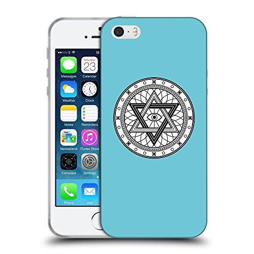 GoGoMobile Coque de Protection TPU Silicone Case pour // Q09770627 Mystique occulte 26 Cyan // Apple iPhone 5 5S 5G SE