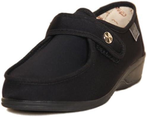 DOCTOR CUTILLAS 746 Zapatilla Velcro Confort Mujer Negro 35: Amazon.es: Zapatos y complementos