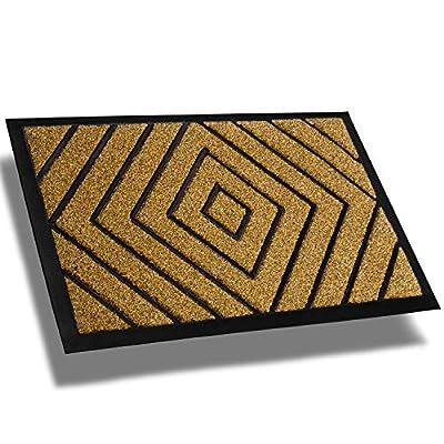 Extra Durable Striped Doormat Outdoor - Rubber Outdoor Doormat - Non-Slip Absorbent Door Mat Rug (30 x 18) Front Door Mat/Back Door Mat - Entrance Doormat - Door Mat Outside - Front Door Rug