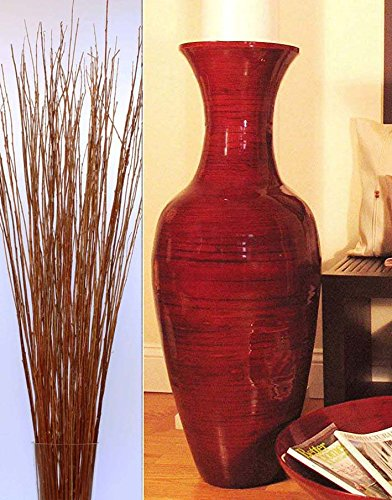 Green Floral Crafts 36 Quot Classic Mahogany Red Bamboo Floor