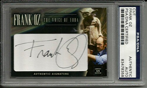 Yoda Signed - Frank Oz STAR WARS VOICE OF YODA Signed Custom CARD #'d 1/1 Slabbed - PSA/DNA Certified