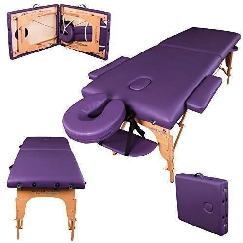 Massage Imperial Charbury Purple 2-Section Portable Massage Table Couch Bed Spa by Massage Imperial (Spas Imperial)
