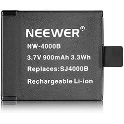 Neewer® NW4000B 3.7V 900mAh SJ4000B Replacement Battery for SJ4000 SJ5000 SJ6000 SJ7000 of RioRand, AFUNTA, SJCAM, DBPOWER, QUMOX, Tronsmart, MeGoodo, Tronsport and Neewer Action Camera