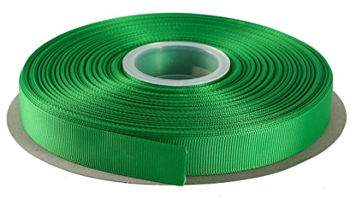 Duoqu 1/2 Inch Wide Grosgrain Ribbon 50 Yards Roll Multiple Colors (Emerald)