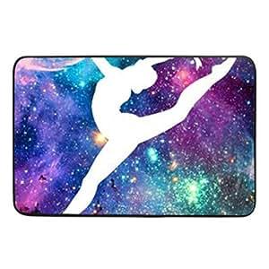 Bright Gymnastic Dancing Star Christmas gift Doormat Indoor Entrance Floor Mat Non Slip Door Mat 23.6 x15.7 Inch