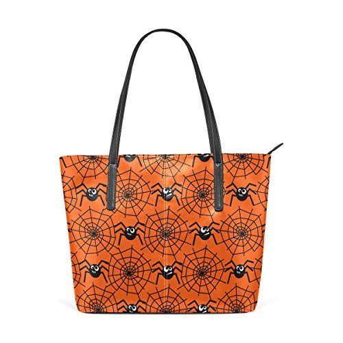 Bags PU Handbag Totes Leather Webs Women's Shoulder Top Halloween Spiders And Handle Fashion TIZORAX Purses qZX7gX