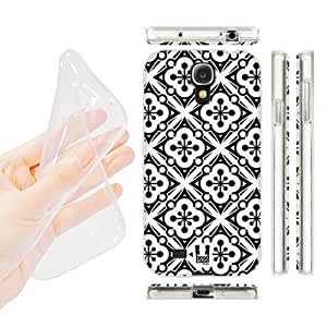 Hu Xiao Head case cover Designs Snow Flakes Black and White Pattern Gel Back case cover FWQHoZyc1nz Cover for Samsung Galaxy S4 I9500