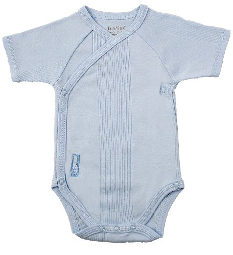 Kushies Everyday Layette Wrap Short Sleeve Bodysuit
