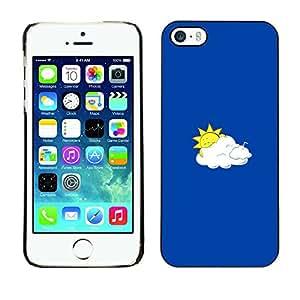 EJOY---Cubierta de la caja de protección la piel dura para el / iPhone 5 / 5S / --Sun divertido y nubes