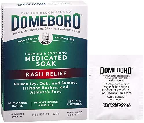 Domeboro Medicated Soak Rash Relief, 12 Powder Packets