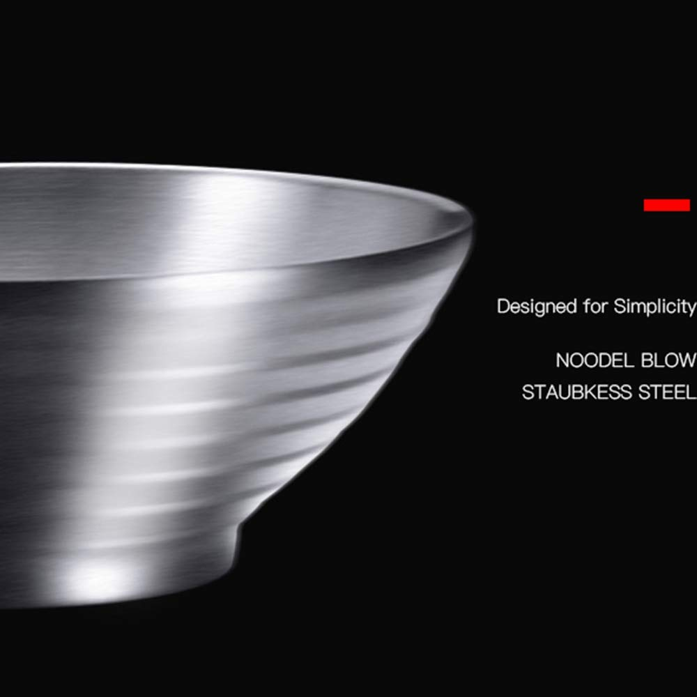 Fruit Cooked Food Salad Bowl Cereal Noodle Double Wall 10 Inch 47 OZ Stainless Steel Multipurpose Serving Bowl for Soup Salad Bowl