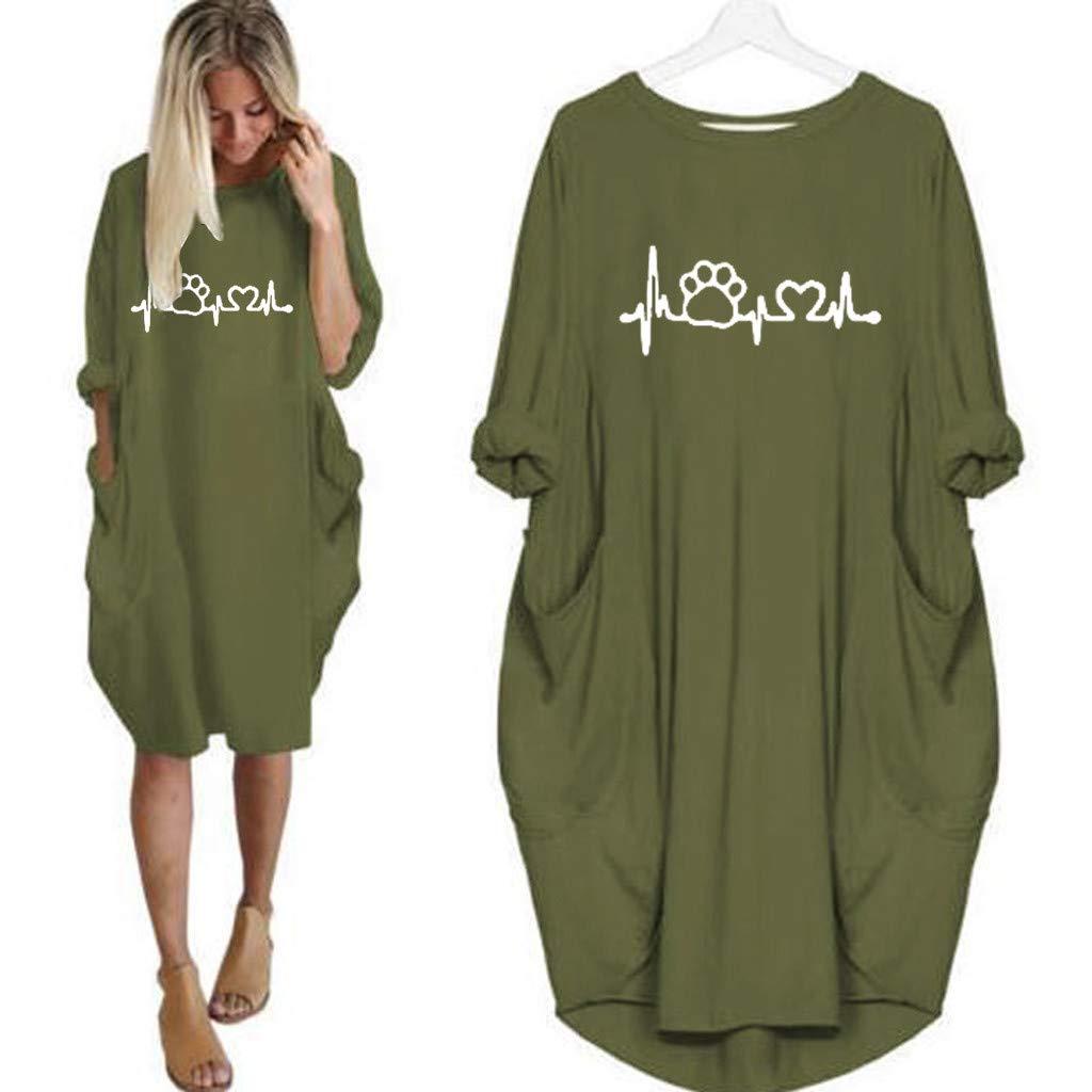 Casual para Mujer Vestidos de Algodón Sólido Adaptable ...