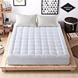 Mattress Pad Cover Down Alternative Mattress Topper Hotel Luxury Collection 300 Thread 100% Cotton (Queen)
