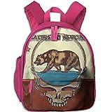 Student School Bags Backpack Daypack Skull Bear Super Bookbag Break For Kids Pink