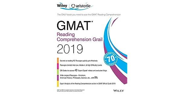 Amazon com: Wiley's GMAT Reading Comprehension Grail 2019