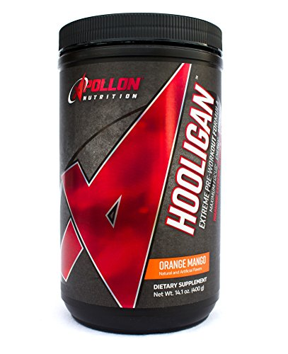 Apollon Nutrition Hooligan | Extreme Pre Workout Formula | 20 Servings (Orange Mango) by Apollon Nutrition