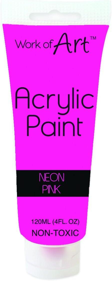 Pintura acrílica Work of Art, color rosa neón