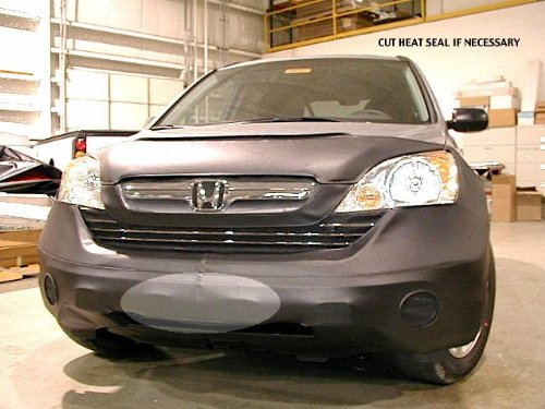 Lebra 2 piece Front End Cover Black - Car Mask Bra - Fits - HONDA CR-V 2007 thru (Covercraft Car Bra)