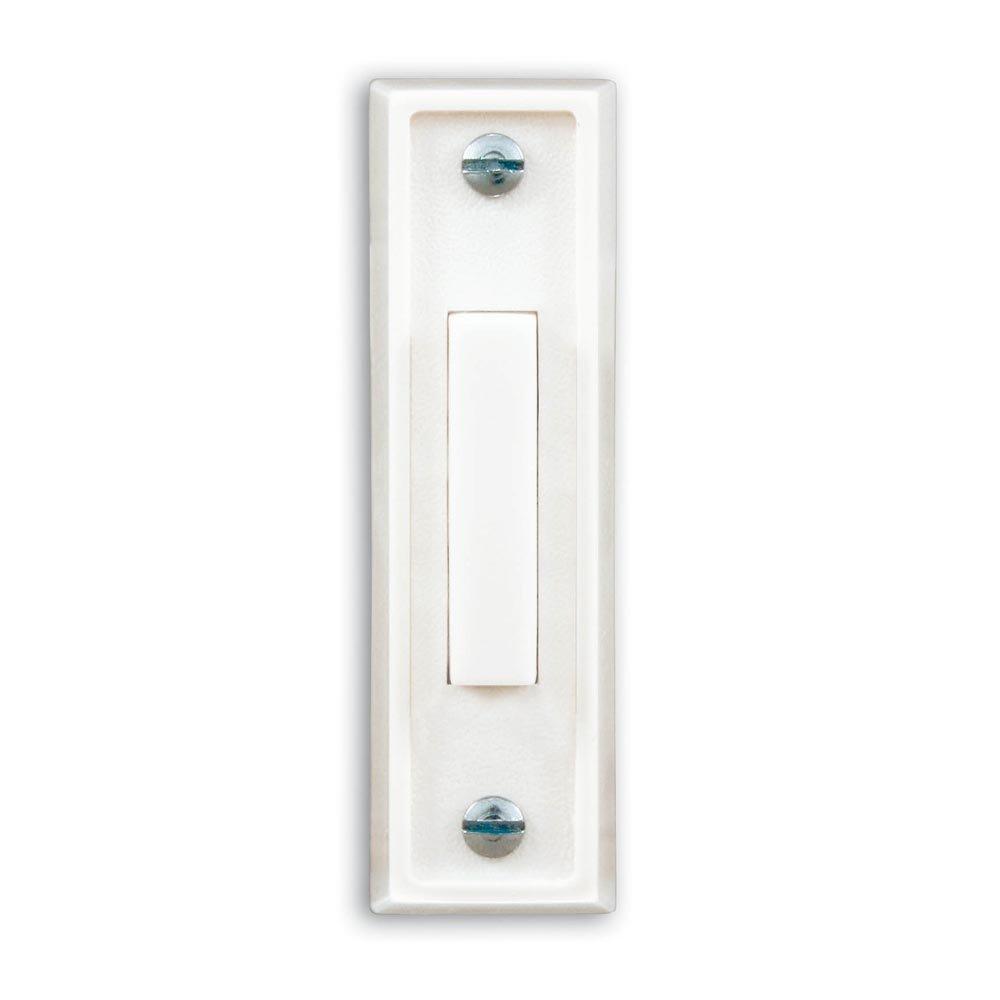 Heath Zenith 670-A Wired Push Button, White Finish with White Center Button