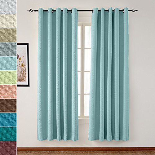 """TWOPAGES Extra Wide Curtain Blackout Grommet 120"""" W x 84"""" L"""
