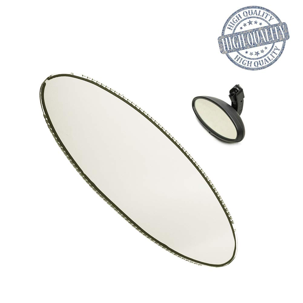 Oval Rear View Mirror Auto Dimming Replacement Glass Cell For BMW E46 M3 E39 M5