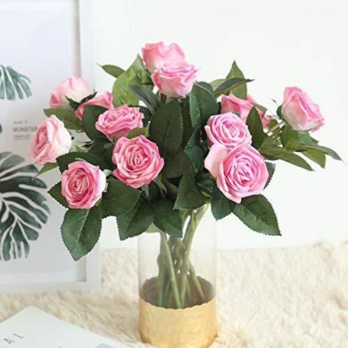 Smileshop01-1pc-2-Heads-Rose-Flower-Artificial-Flowers-Simulation-Silk-Flower-Wedding-Decoration-Rose-Bouquet-Flower-Home-Decorationhot-Pink