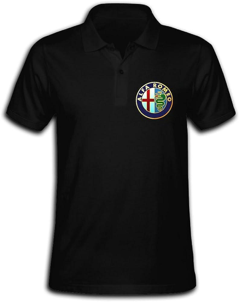 Men Alfa Romeo Printing Short Sleeve Polo Shirt