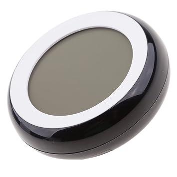 Jili Online Termómetro digital con pantalla LCD para interiores, higrómetro redondo, inalámbrico, medidor de temperatura electrónica, medidor de humedad: ...