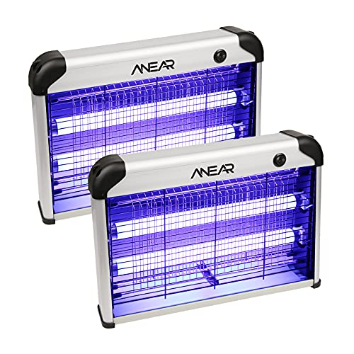2 Pack Electric Bug Zapper,ANEAR Insect Killer with 20W 2400V Power Grid Mosquito Zapper Trap - Mosquito,Fly,Moth,Wasp…
