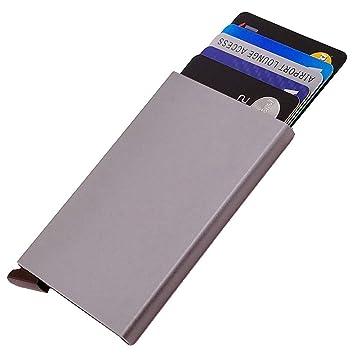 Dlife Ultra Delgada Carteras de Aluminio Cartera,Tarjeteros para Tarjetas De Crédito RFID,Cartera Tarjetero para Hombre y Mujer (Gris): Amazon.es: Hogar