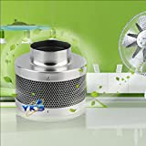 GOMYHOM 4Inch Activated Carbon Inline Fan Odor Removal Scrubber Air Cleaning Filter
