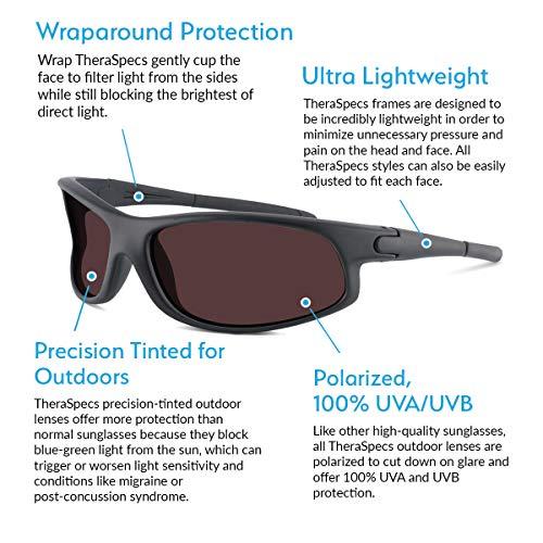 4e5d8291b6 Amazon.com  TheraSpecs Wrap Migraine Glasses for Light Sensitivity ...