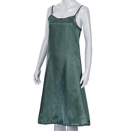 Amazon.com: YKARITIANNA Womens Summer Solid Color Silk ...