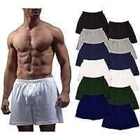 [Patrocinado] Andrew Scott de los hombres 12unidades) Big King Size Hombre Algodón Knit Dormir Boxer Shorts