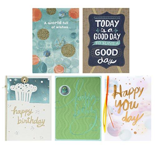 Hallmark Birthday Greeting Cards (5 Cards, 5 Envelopes)