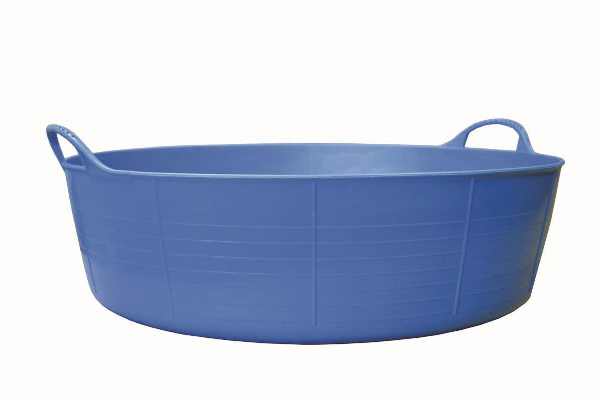 Tubtrugs 35L Large Shallow Flexible 2-Handled Recycled Tub, Blue FCL SP35BL