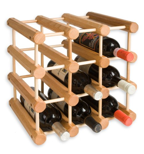 Amazon.com: J.K. Adams Ash Wood 12 Bottle Wine Rack, Natural: Home U0026 Kitchen