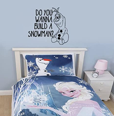 Do You Want to Build a Snowman Frozen Inspired Vinyl Wall Decal