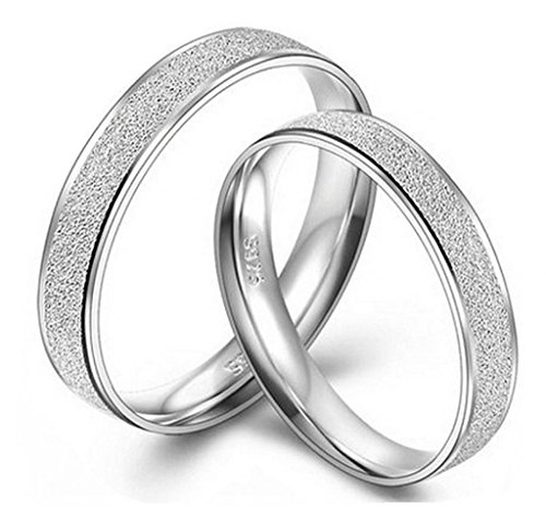 Infinite U Plata Esterlina 925 Parejas Comfort Fit Plain Wedding Band Anillos: Amazon.es: Joyería