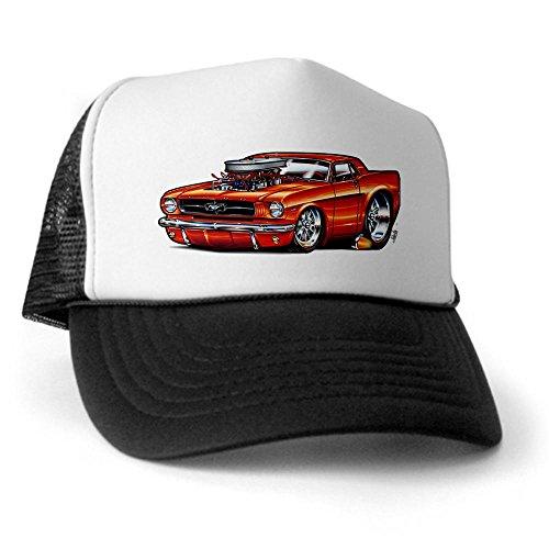 CafePress - 65mustCobEngseps Trucker Hat - Trucker Hat, Classic Baseball Hat, Unique Trucker Cap Black/White