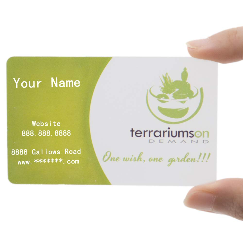 Custom 200 PCS Frosted Plastic Personalize Business Cards, Full Color Printed, 0.38mm Thickness-Frosted/ 0.38mm-200 PCS